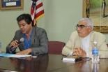 Rodolfo Martínez Sotomayor y el Padre Chabebe (Foto: Ernesto G.)