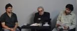 """Rodolfo Martínez Sotomayor, Alejandro Fonseca y Joaquín Gálvez durante la presentación del libro """"De un tiempo deslumbrado (Editorial Silueta, 2011) de Alejandro Fonseca"""